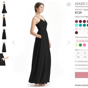 Azazie Dresses - Azazie Cora - Black